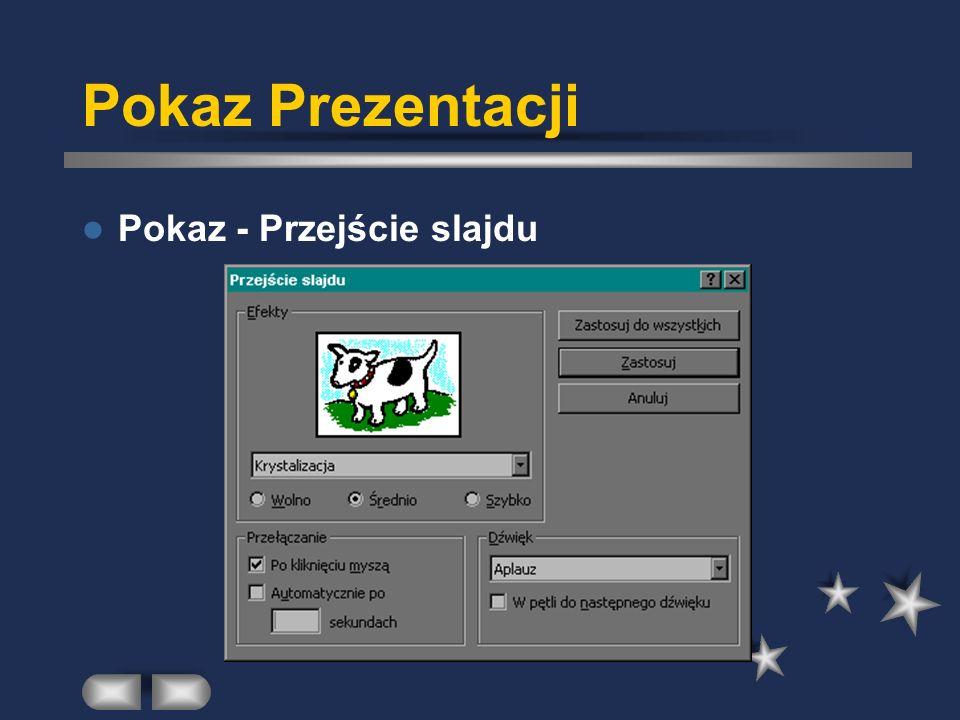 Pokaz Prezentacji Pokaz - Przejście slajdu