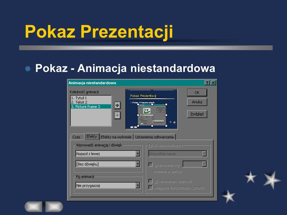 Pokaz Prezentacji Pokaz - Animacja niestandardowa