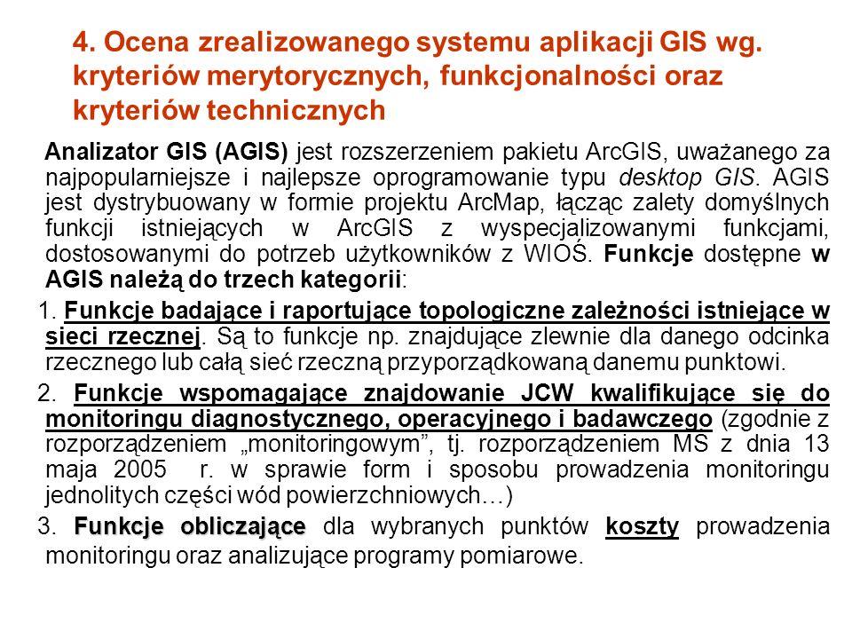 4. Ocena zrealizowanego systemu aplikacji GIS wg.