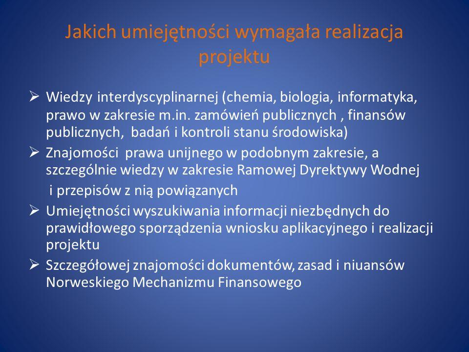 Jakich umiejętności wymagała realizacja projektu Wiedzy interdyscyplinarnej (chemia, biologia, informatyka, prawo w zakresie m.in. zamówień publicznyc