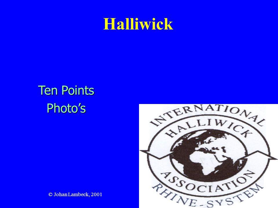 © Johan Lambeck, 2001 Halliwick 10 punktów metody Halliwick : 1.Przystosowanie psychiczne 2.