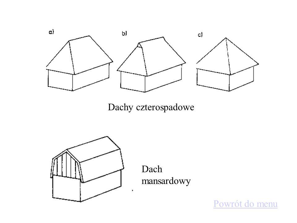 Konstrukcje dachowe Dachy dwuspadowe Powrót do menu