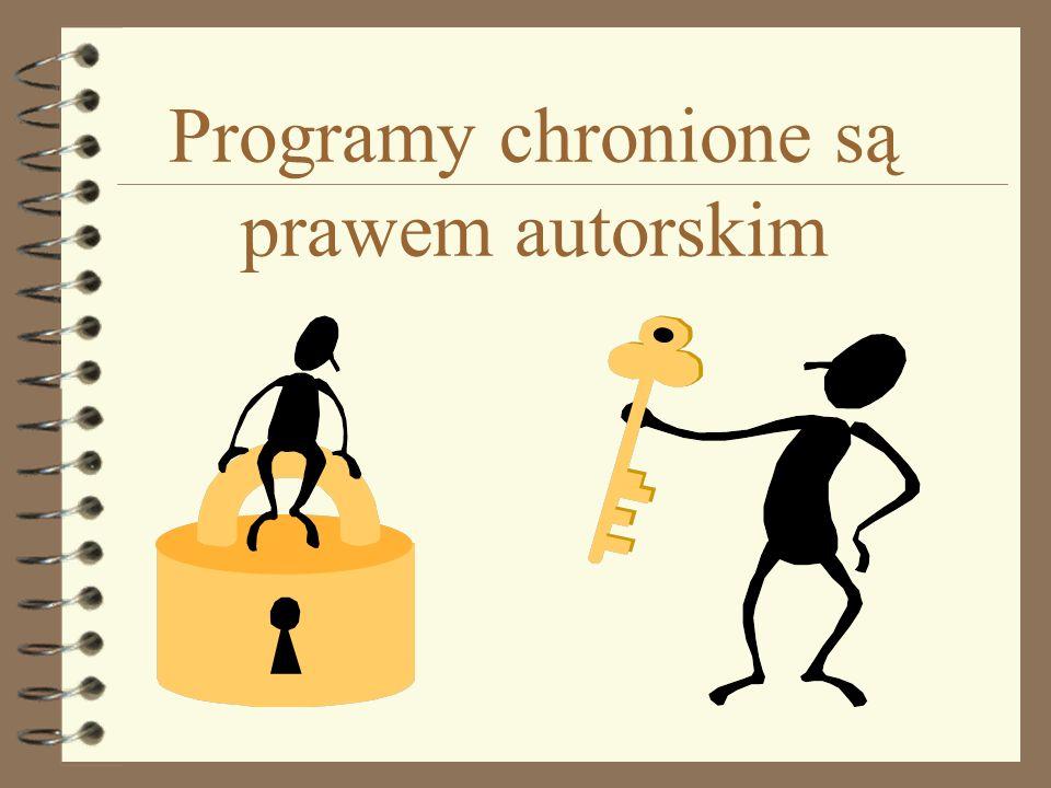 Programy chronione są prawem autorskim