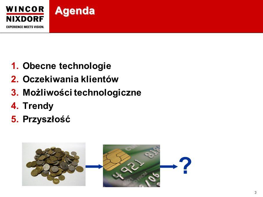 3 Agenda 1.Obecne technologie 2.Oczekiwania klientów 3.Możliwości technologiczne 4.Trendy 5.Przyszłość ?