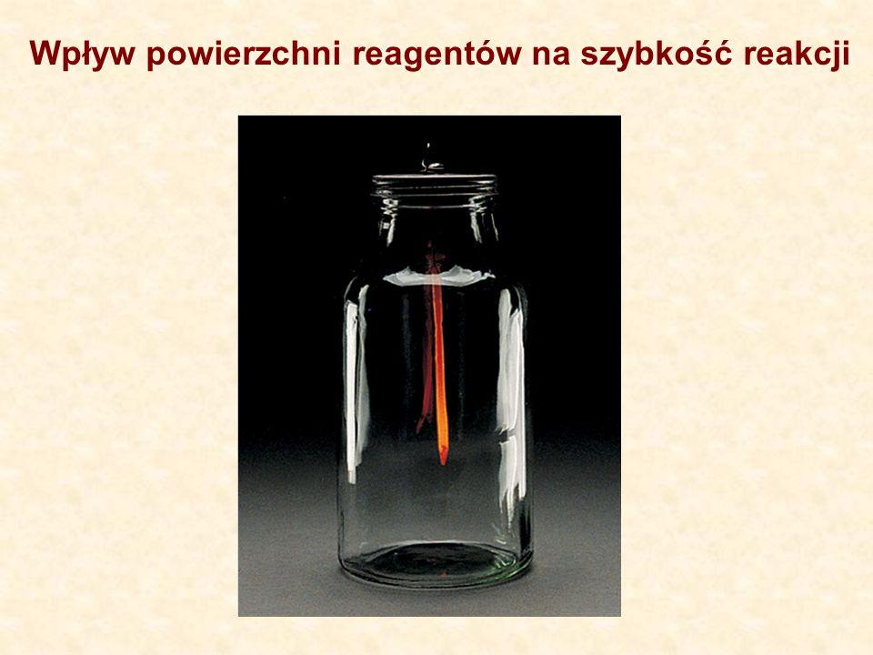 Wpływ powierzchni reagentów na szybkość reakcji