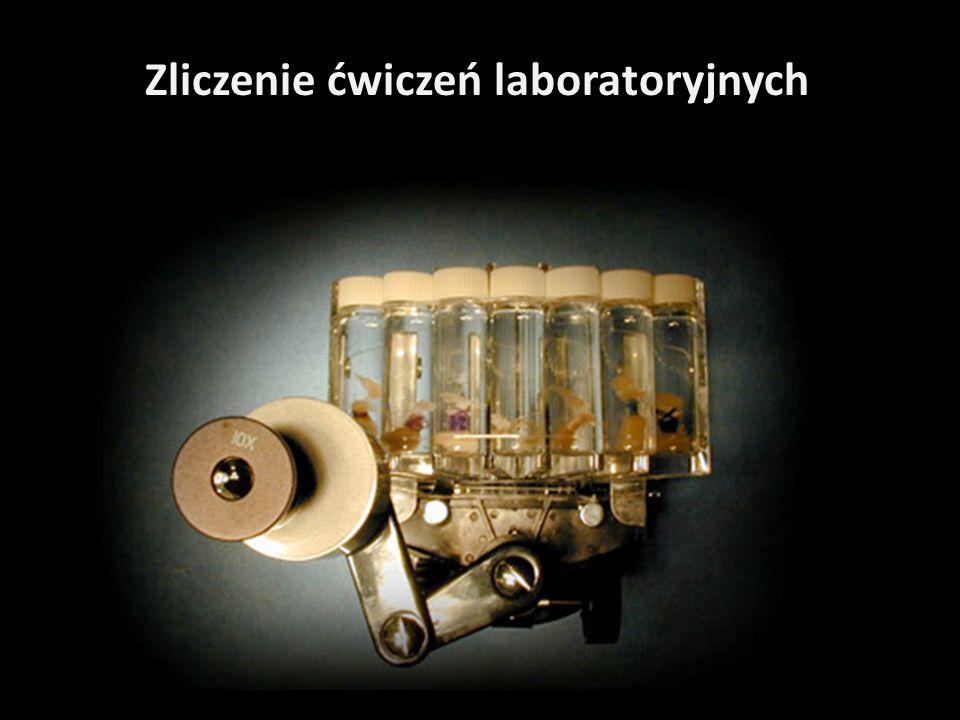 Zliczenie ćwiczeń laboratoryjnych