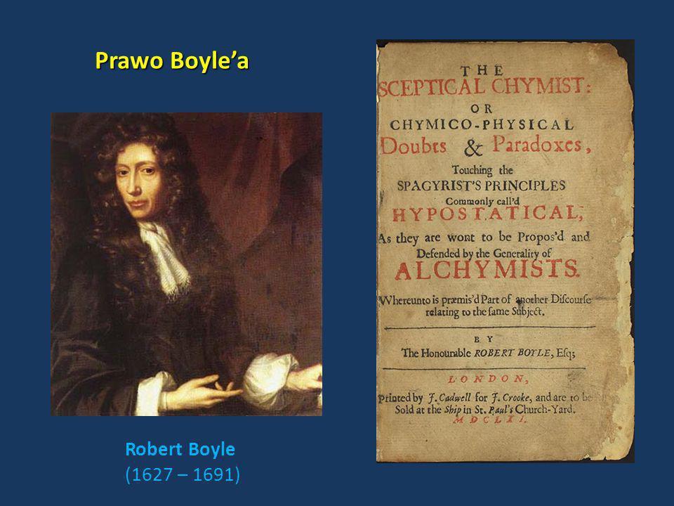 Robert Boyle (1627 – 1691) Prawo Boylea