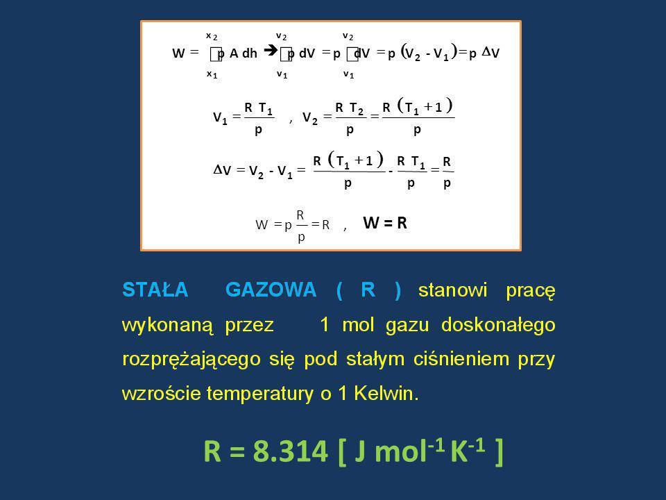 R = 8.314 [ J mol -1 K -1 ] V p V- V p dVp p dh A p W 12 v v v v x x 2 1 2 1 2 1 p TR V 1 1, p 1 T R p TR V 12 2 p R p TR - p 1 T R V- V V 11 12 R p R