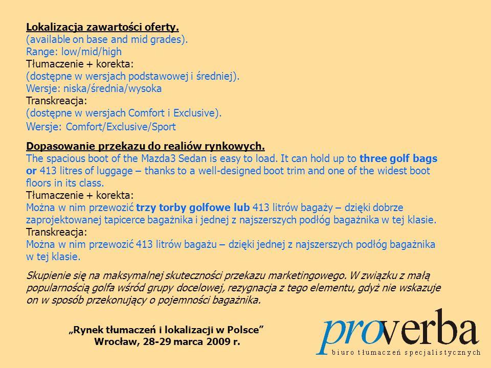Dziękuję za uwagę! Pełen tekst prezentacji dostępny na stronach www.proverba.pl