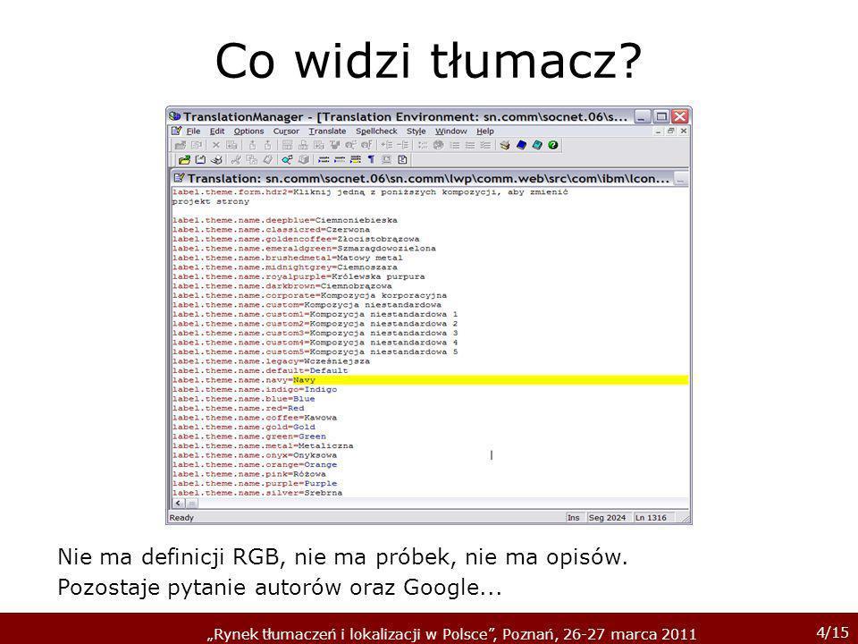 5/15 Rynek tłumaczeń i lokalizacji w Polsce, Poznań, 26-27 marca 2011 Ale co w tym trudnego??.