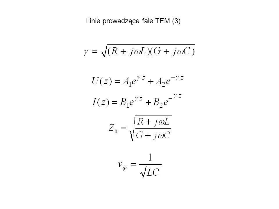 Linie prowadzące fale TEM (3)