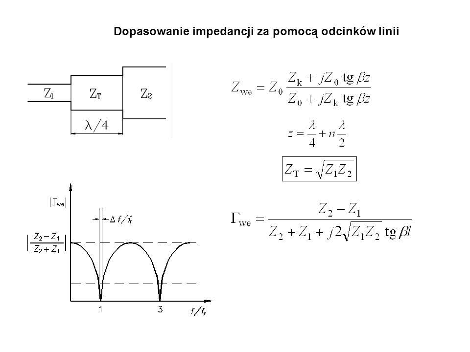 Dopasowanie impedancji za pomocą odcinków linii