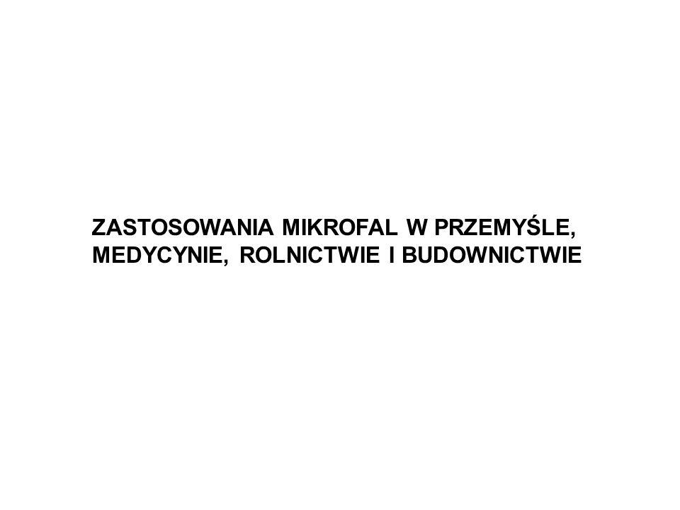 Częstotliwości dozwolone w zastosowaniach przemysłowych i badaniach naukowych Częstotliwość GHz TolerancjaObowiązujący obszar 0.4340.2 %Austria, Holandia, Portugalia, RFN, Szwajcaria 0.89610 MHzZjednoczone Królestwo 0.91513 MHzAmeryka Północna i Południowa 2.37550 MHzAlbania, Bułgaria, Węgry, Rumunia, Czechy, Słowacja, WNP 2.45050 MHzWszędzie, za wyjątkiem obszaru 2.375 GHz 3.3900.6 %Holandia 5.800 5 MHzWszędzie 6.7800.6 %Holandia 24.15025 MHzWszędzie 40.68025 MHzWszędzie