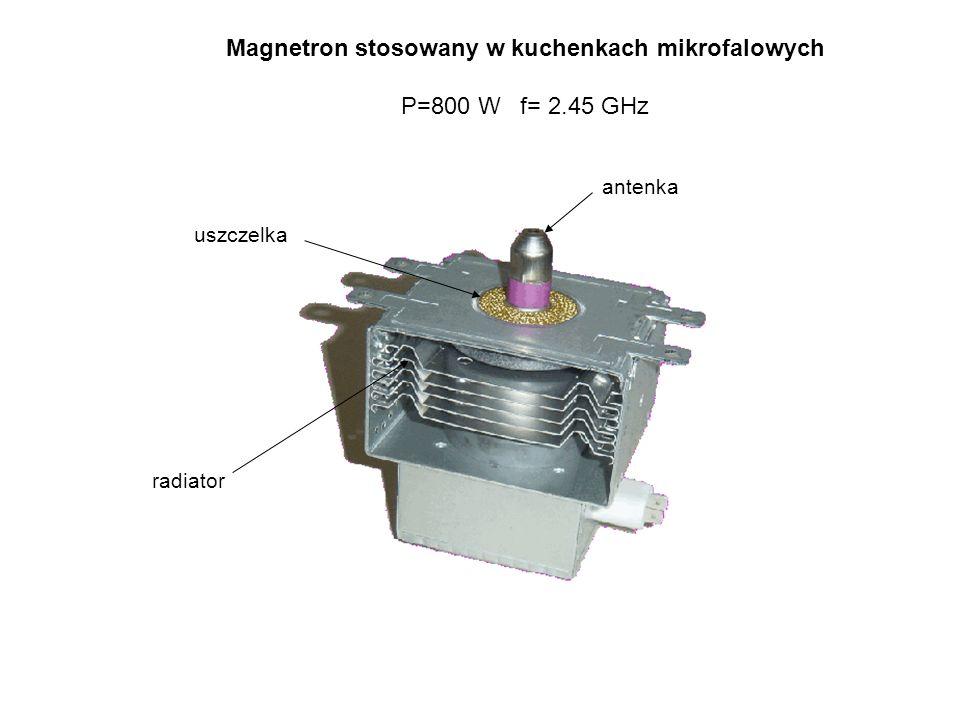 antenka radiator uszczelka Magnetron stosowany w kuchenkach mikrofalowych P=800 W f= 2.45 GHz