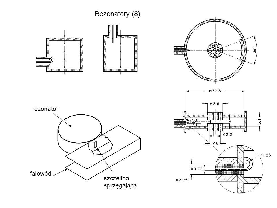 Rezonatory (8) rezonator szczelina sprzęgająca falowód