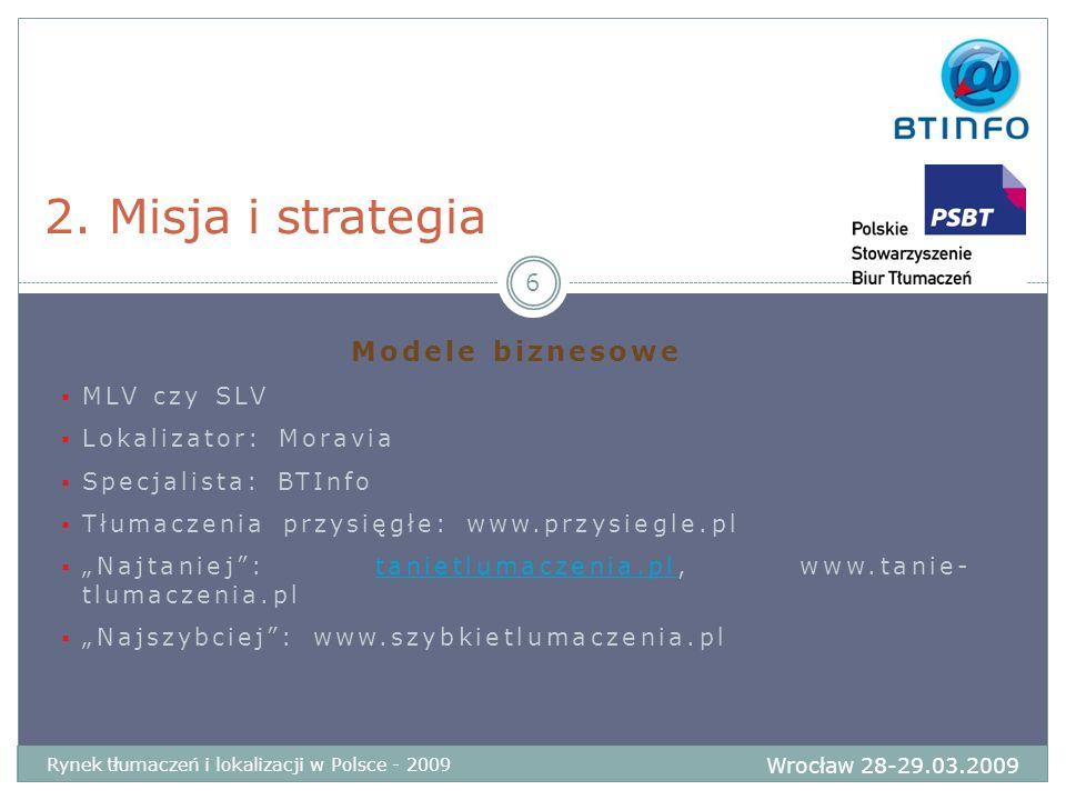 Modele biznesowe MLV czy SLV Lokalizator: Moravia Specjalista: BTInfo Tłumaczenia przysięgłe: www.przysiegle.pl Najtaniej: tanietlumaczenia.pl, www.ta