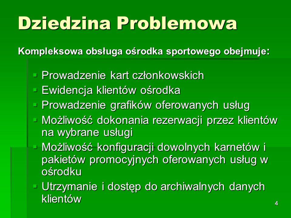 5 Dziedzina Problemowa cd..