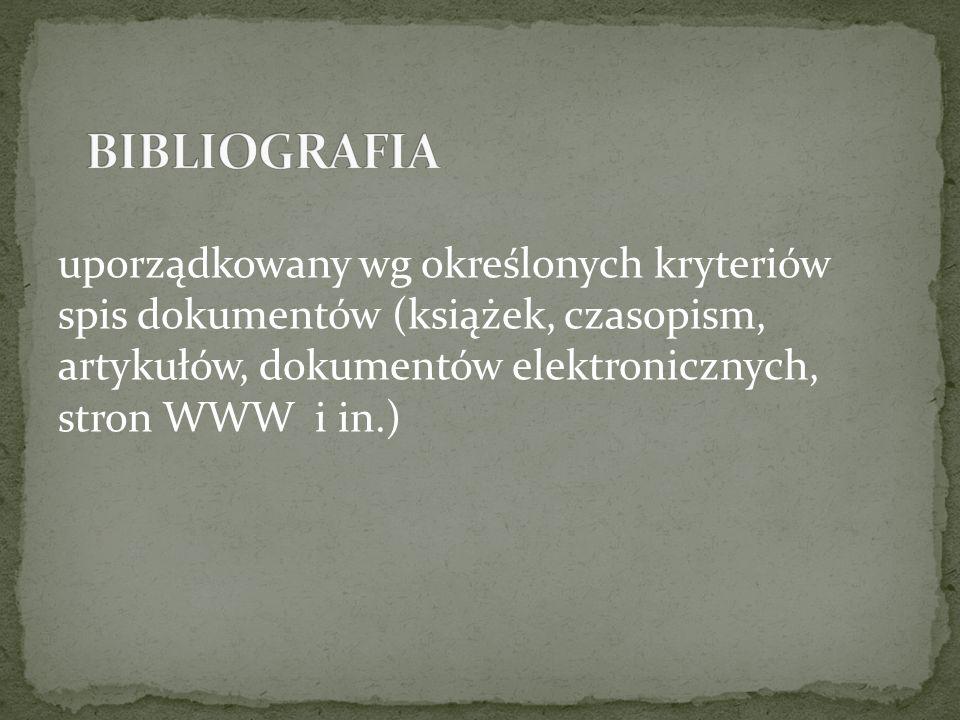 Autor. Tytuł książki. Wydanie. Rok wydania. ISBN.