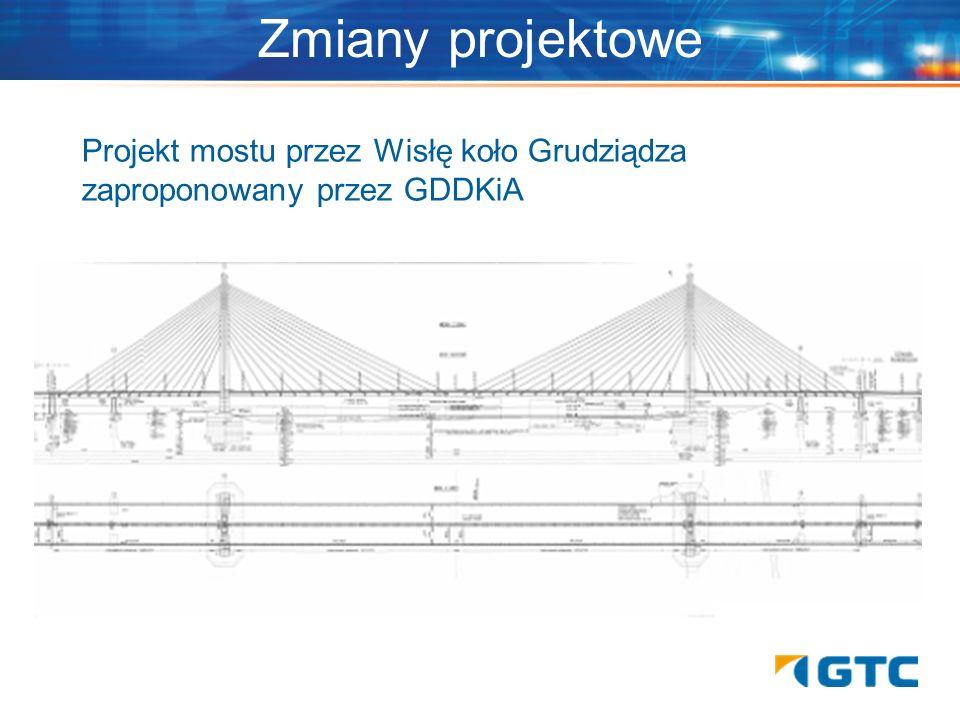 Projekt mostu przez Wisłę koło Grudziądza zaproponowany przez GDDKiA