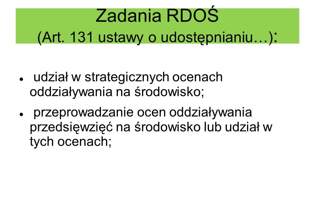 Zadania RDOŚ (Art.