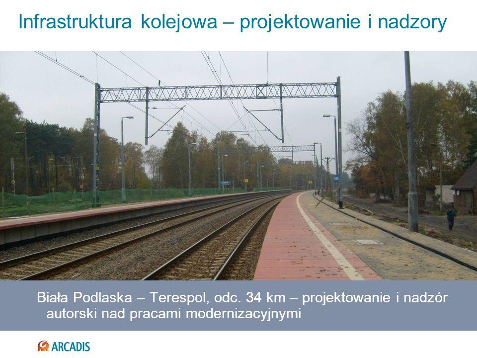 Infrastruktura kolejowa – projektowanie i nadzory Biała Podlaska – Terespol, odc. 34 km – projektowanie i nadzór autorski nad pracami modernizacyjnymi