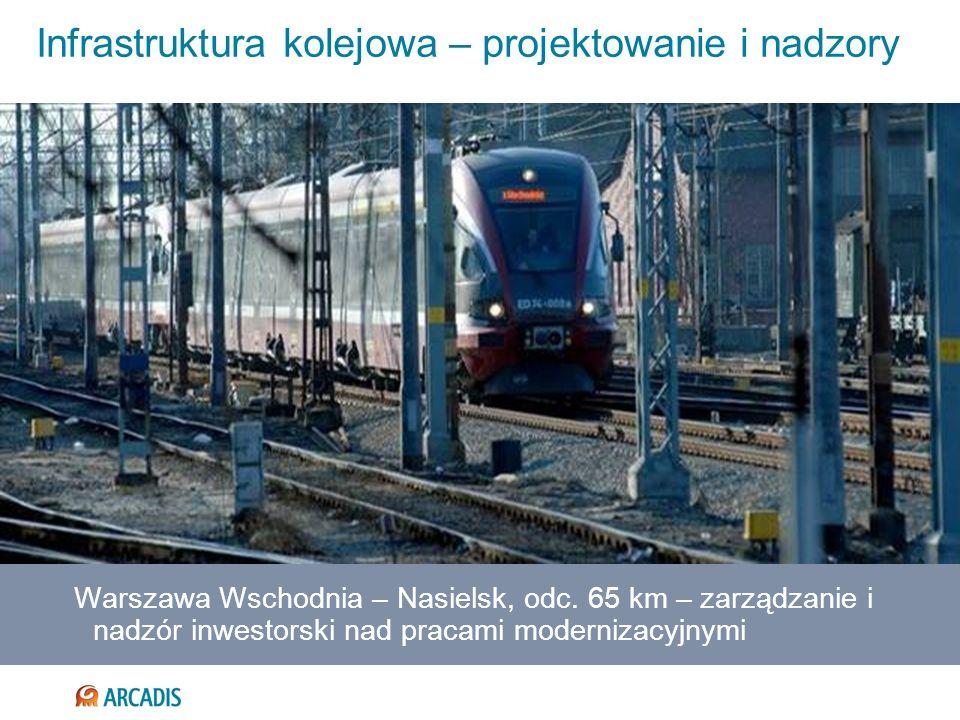 Infrastruktura kolejowa – projektowanie i nadzory Warszawa Wschodnia – Nasielsk, odc. 65 km – zarządzanie i nadzór inwestorski nad pracami modernizacy