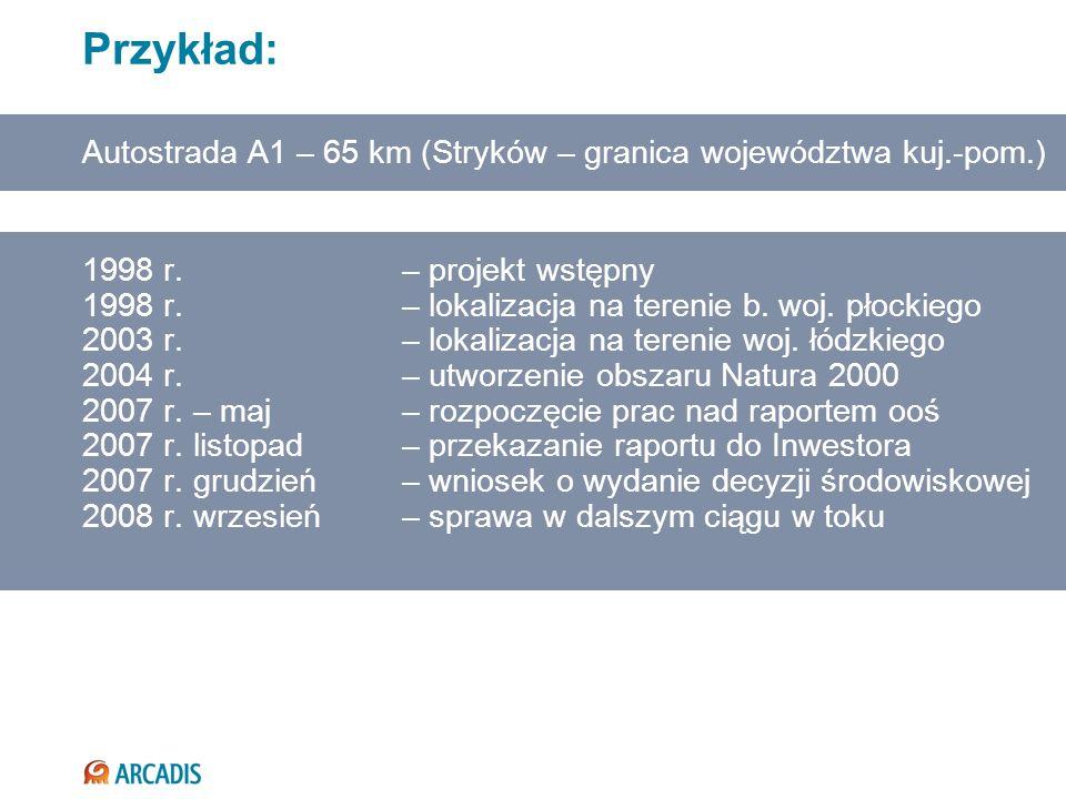 1998 r. – projekt wstępny 1998 r. – lokalizacja na terenie b. woj. płockiego 2003 r. – lokalizacja na terenie woj. łódzkiego 2004 r. – utworzenie obsz