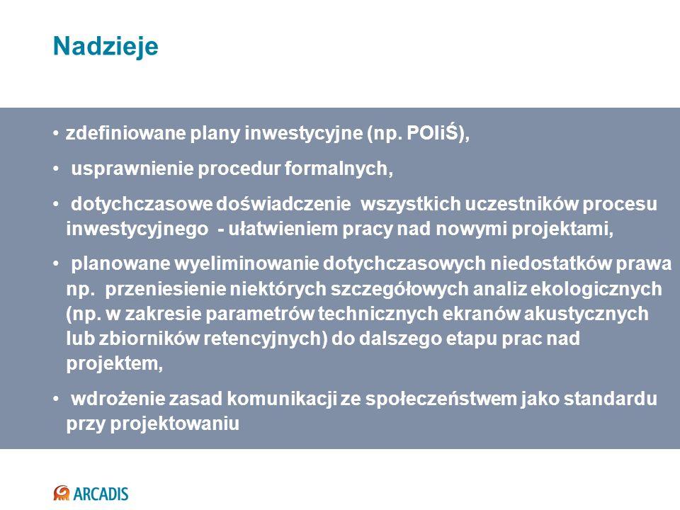 zdefiniowane plany inwestycyjne (np. POIiŚ), usprawnienie procedur formalnych, dotychczasowe doświadczenie wszystkich uczestników procesu inwestycyjne