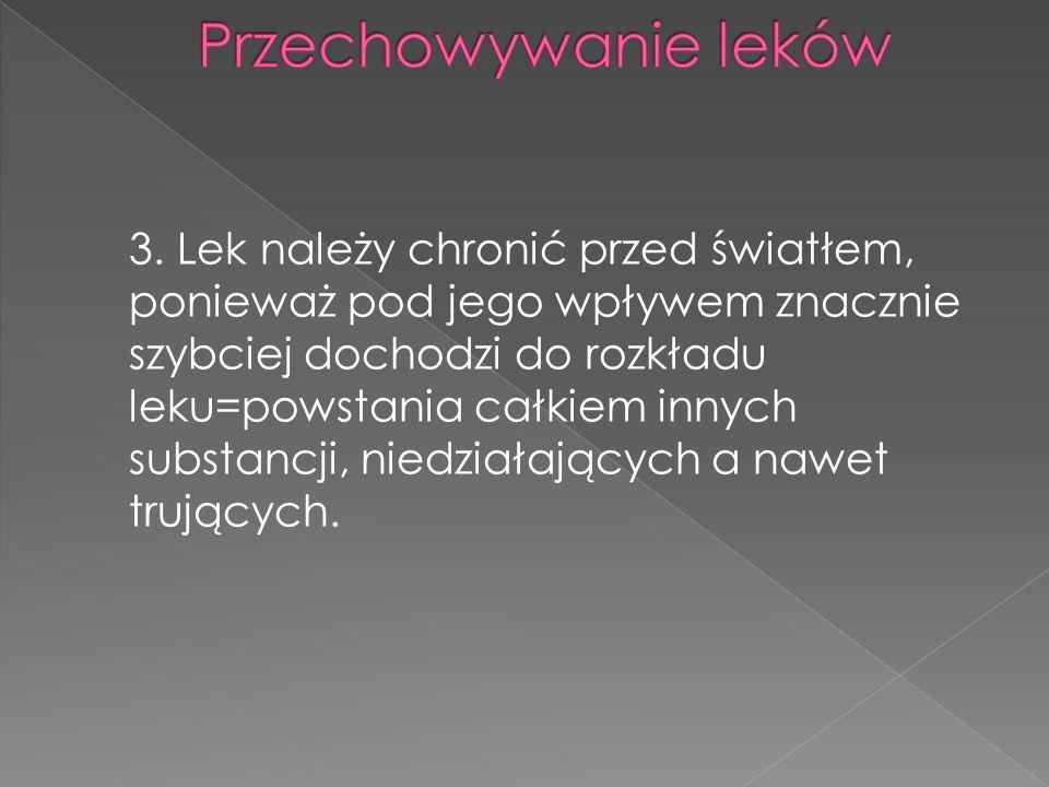4.Lek należy chronić przed wilgocią.