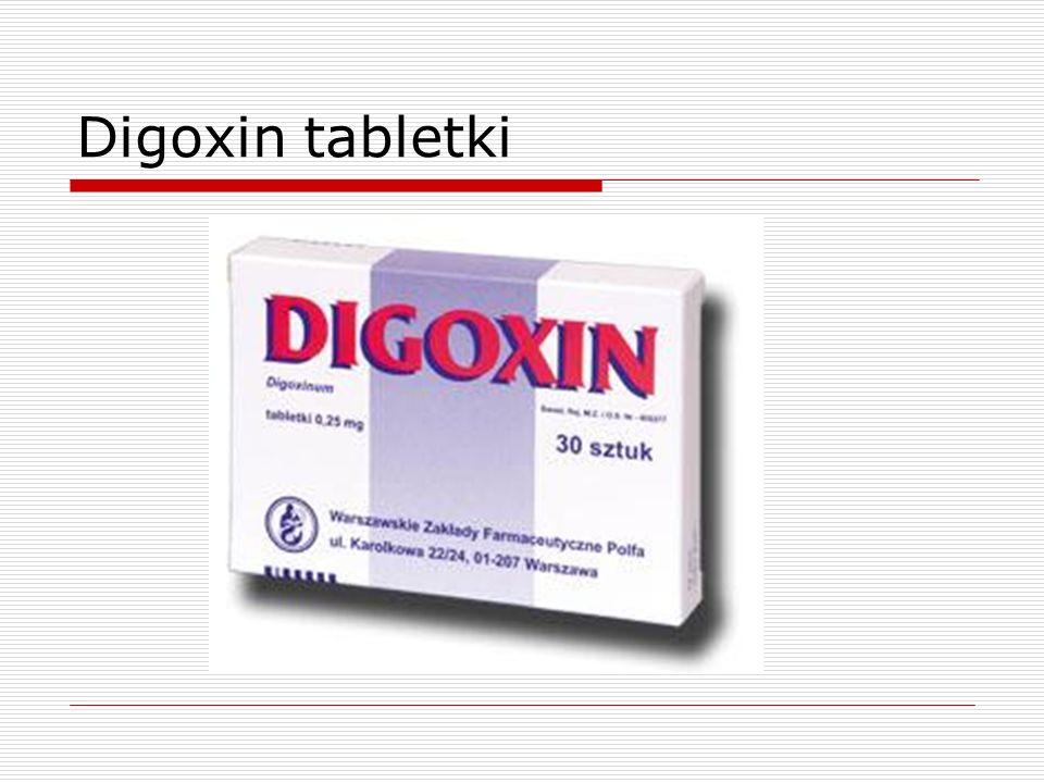 Digoxin tabletki