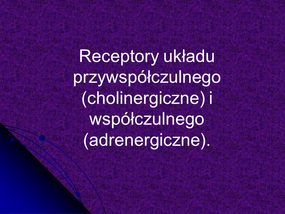 Nikotyna (2) Nikotyna jest agonistą receptorów N występujących w zwojach układu autonomicznego Wystepowanie: tytoń Wystepowanie: tytoń Właściwości fizyczne: oleista ciecz, silnie alkaliczna, bezbarwna, rozpuszczalna w wodzie i tłuszczach, dobrze wchłanialna z błon śluzowych i skóry Właściwości fizyczne: oleista ciecz, silnie alkaliczna, bezbarwna, rozpuszczalna w wodzie i tłuszczach, dobrze wchłanialna z błon śluzowych i skóry Farmakokinetyka : 90% wchłaniane w płucach, słabo wiąże się z białkami, łatwo przechodzi przez błony kom., przenika do tkanki tłuszczowej, osiąga wysokie stężenie już po 7- 10 s od wypalenia papierosa, przenika przez łożysko i do mleka matki.