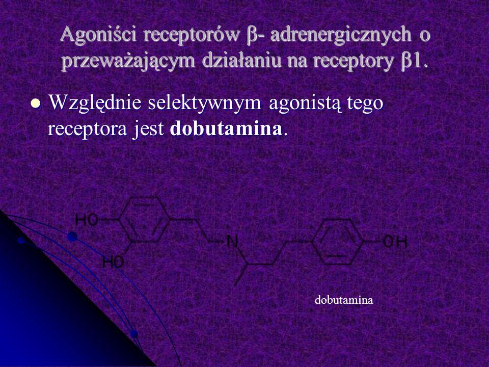 Agoniści receptorów β- adrenergicznych o przeważającym działaniu na receptory β1.
