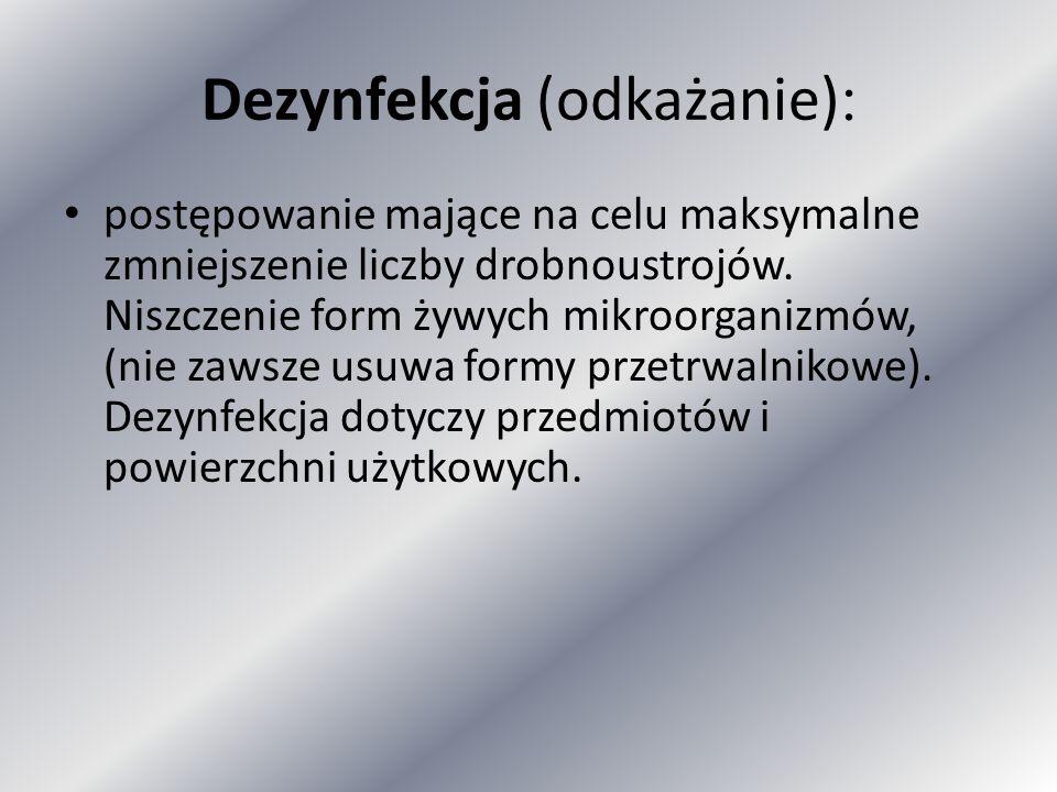 Preparaty Chlorheksydyny dostępne w Polsce: Abacil(5%) Manusan(4%) Chlorhexidinum (20% roztw.