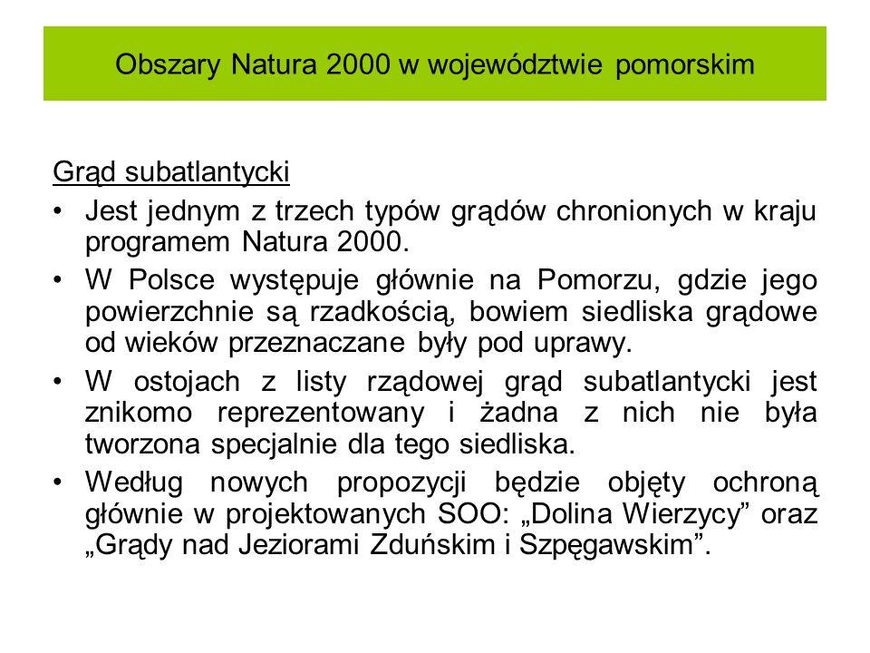Obszary Natura 2000 w województwie pomorskim Grąd subatlantycki Jest jednym z trzech typów grądów chronionych w kraju programem Natura 2000. W Polsce