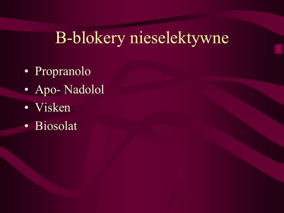 B-blokery nieselektywne Propranolo Apo- Nadolol Visken Biosolat