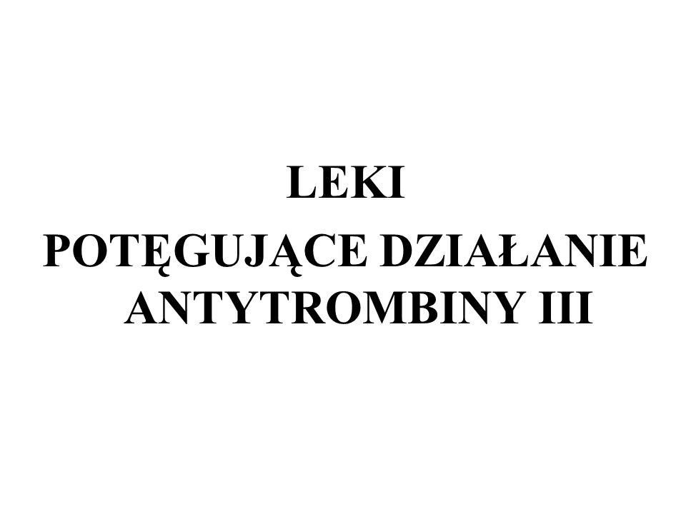 LEKI POTĘGUJĄCE DZIAŁANIE ANTYTROMBINY III