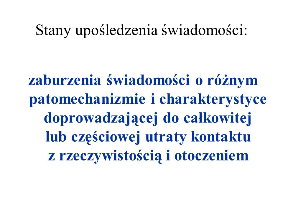 Trzy grupy objawów o różnym zaawansowaniu towarzyszące udarowi niedokrwiennemu: niedowład:jednostronny/ obustronny ruchowy/czuciowy/mieszany zaburzenia widzenia:ubytki w polu widzenia zaburzenia mowy:afazja/ dysfazja + deficyty kory mózgowej: dezorientacja, utrata świadomości
