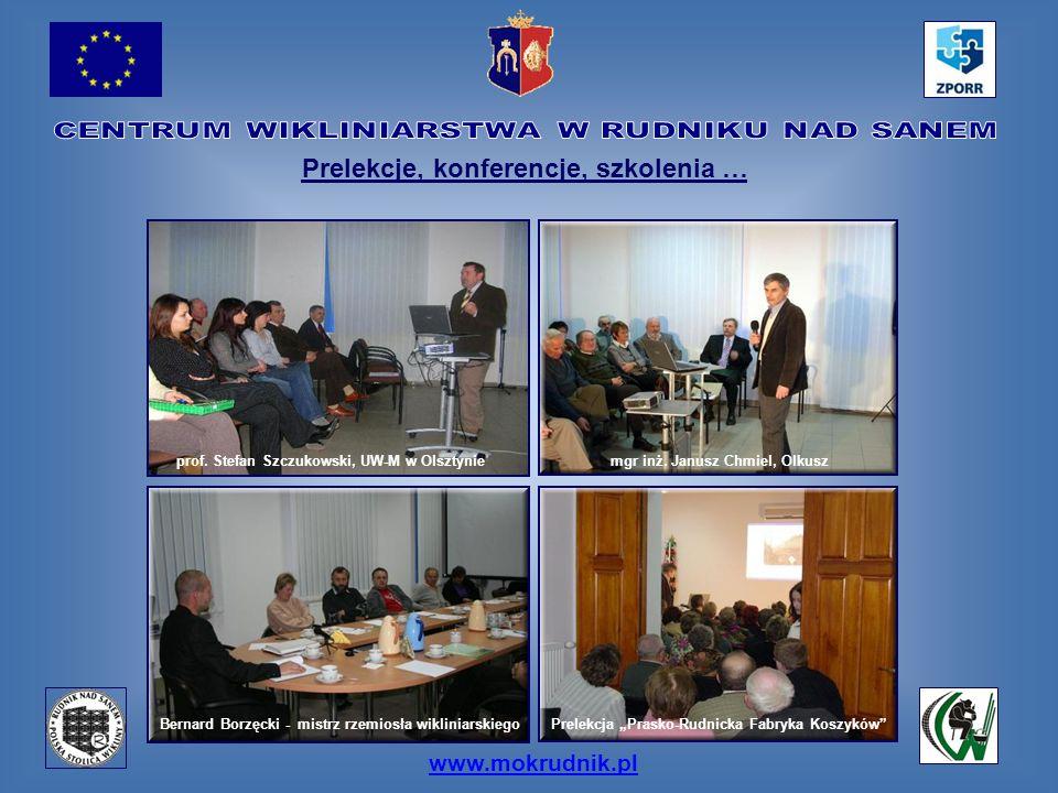 www.mokrudnik.pl Prelekcje, konferencje, szkolenia … prof. Stefan Szczukowski, UW-M w Olsztyniemgr inż. Janusz Chmiel, Olkusz Bernard Borzęcki - mistr