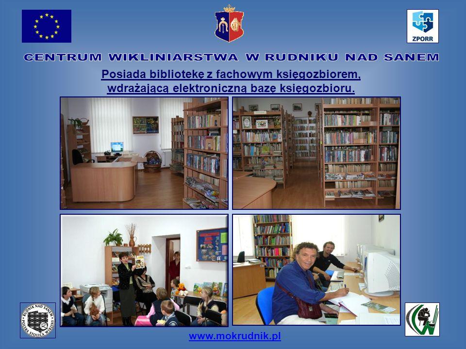 www.mokrudnik.pl Posiada bibliotekę z fachowym księgozbiorem, wdrażającą elektroniczną bazę księgozbioru.