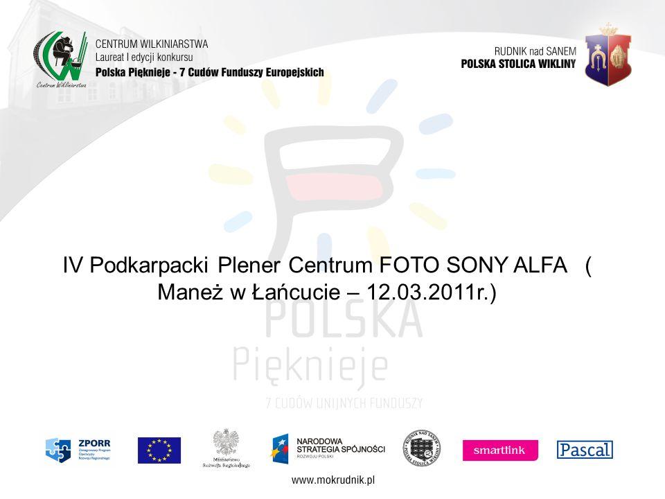IV Podkarpacki Plener Centrum FOTO SONY ALFA ( Maneż w Łańcucie – 12.03.2011r.)