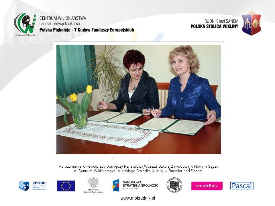 Porozumienie o współpracy pomiędzy Państwową Wyższą Szkołą Zawodową w Nowym Sączu a Centrum Wikliniarstwa Miejskiego Ośrodka Kultury w Rudniku nad San