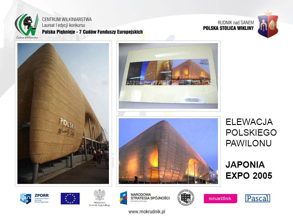 ELEWACJA POLSKIEGO PAWILONU JAPONIA EXPO 2005