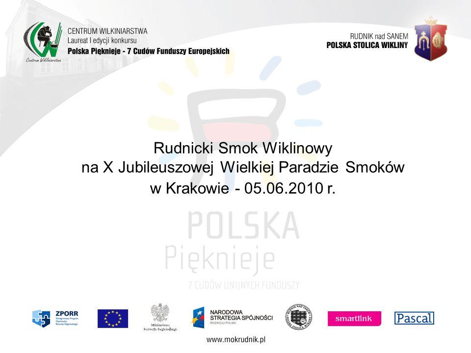 Rudnicki Smok Wiklinowy na X Jubileuszowej Wielkiej Paradzie Smoków w Krakowie - 05.06.2010 r.