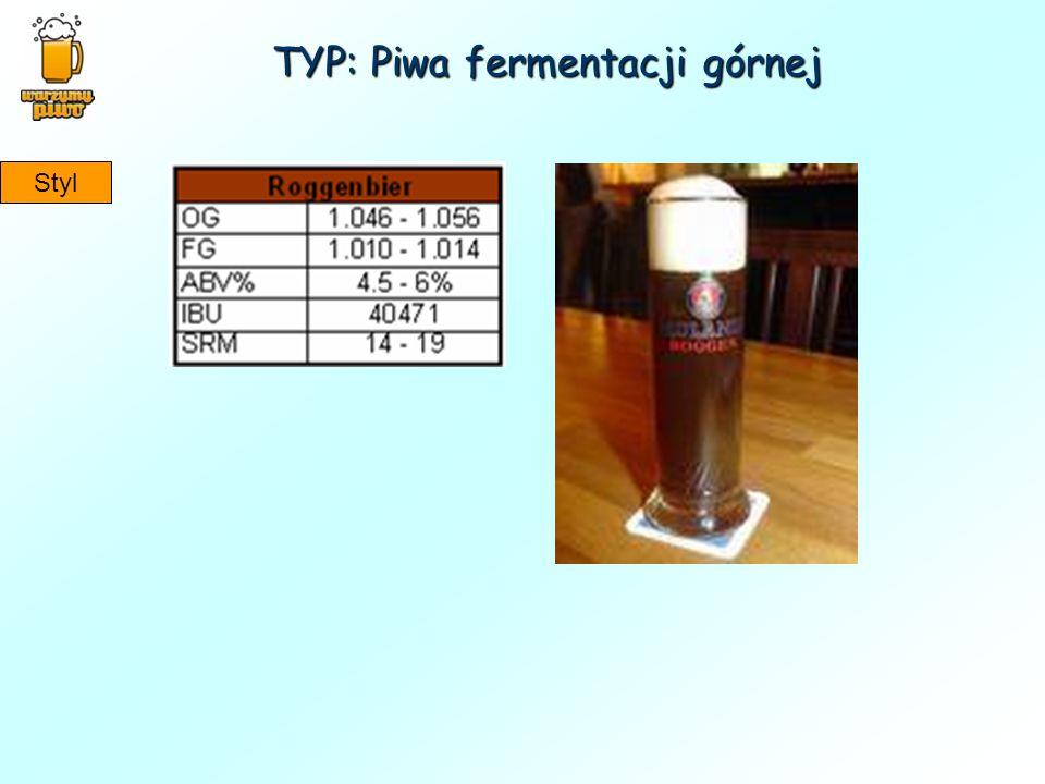 TYP: Piwa fermentacji górnej Styl
