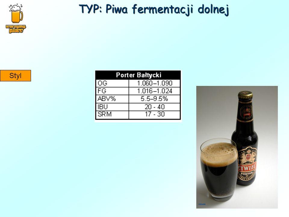 TYP: Piwa fermentacji dolnej Styl