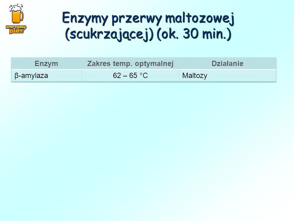 Enzymy przerwy maltozowej (scukrzającej) (ok. 30 min.)