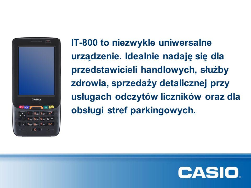 IT-800 to niezwykle uniwersalne urządzenie. Idealnie nadaję się dla przedstawicieli handlowych, służby zdrowia, sprzedaży detalicznej przy usługach od