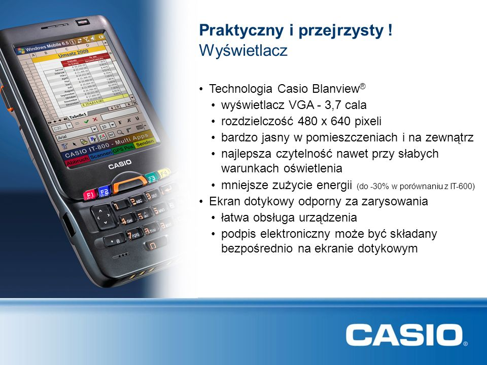 CASIO IT-800: Konfiguracja Network HeadquarterLocal Scanner USB Cradle HA-H30CHG IT-800 GPRS/EDGE/UMTS/HSDPA Bluetooth IrDA Bluetooth Printer IrDA Printer Direct Connection USB Cable Access Point WLAN Bluetooth Server LAN PC Bluetooth PC Connection Ethernet Cradle HA-H62IO RooterServer LAN GPS IT-800 WWAN Telephone Smart Card NFC