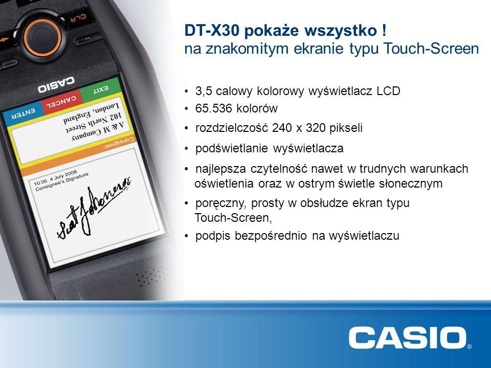 3,5 calowy kolorowy wyświetlacz LCD DT-X30 pokaże wszystko ! 65.536 kolorów rozdzielczość 240 x 320 pikseli podświetlanie wyświetlacza najlepsza czyte