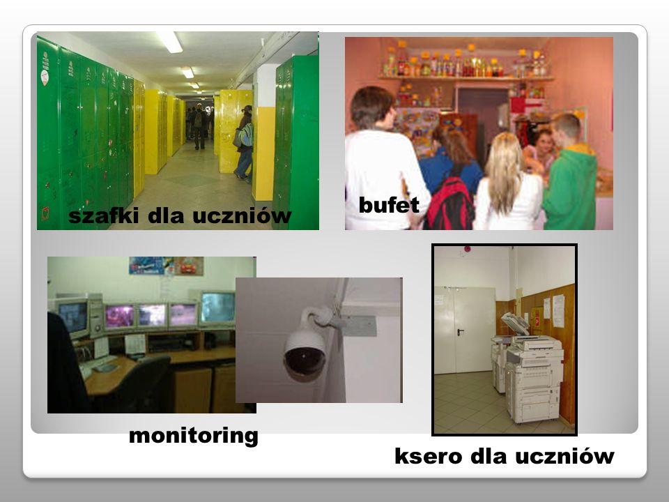 szafki dla uczniów monitoring bufet ksero dla uczniów